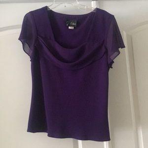 SL Fashions 2 piece Purple skirt/shirt set